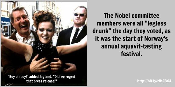 nobel committee drunk