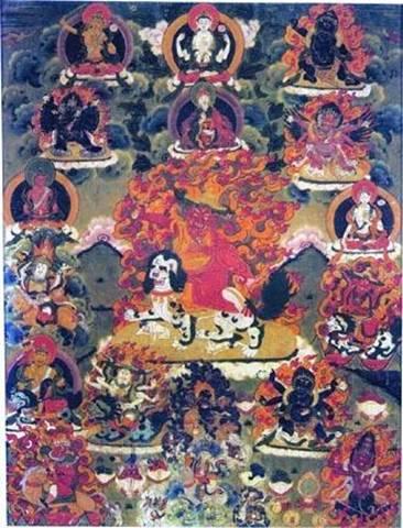 Padmasambhava and Dorje Shugden