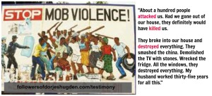 testimony mob violence